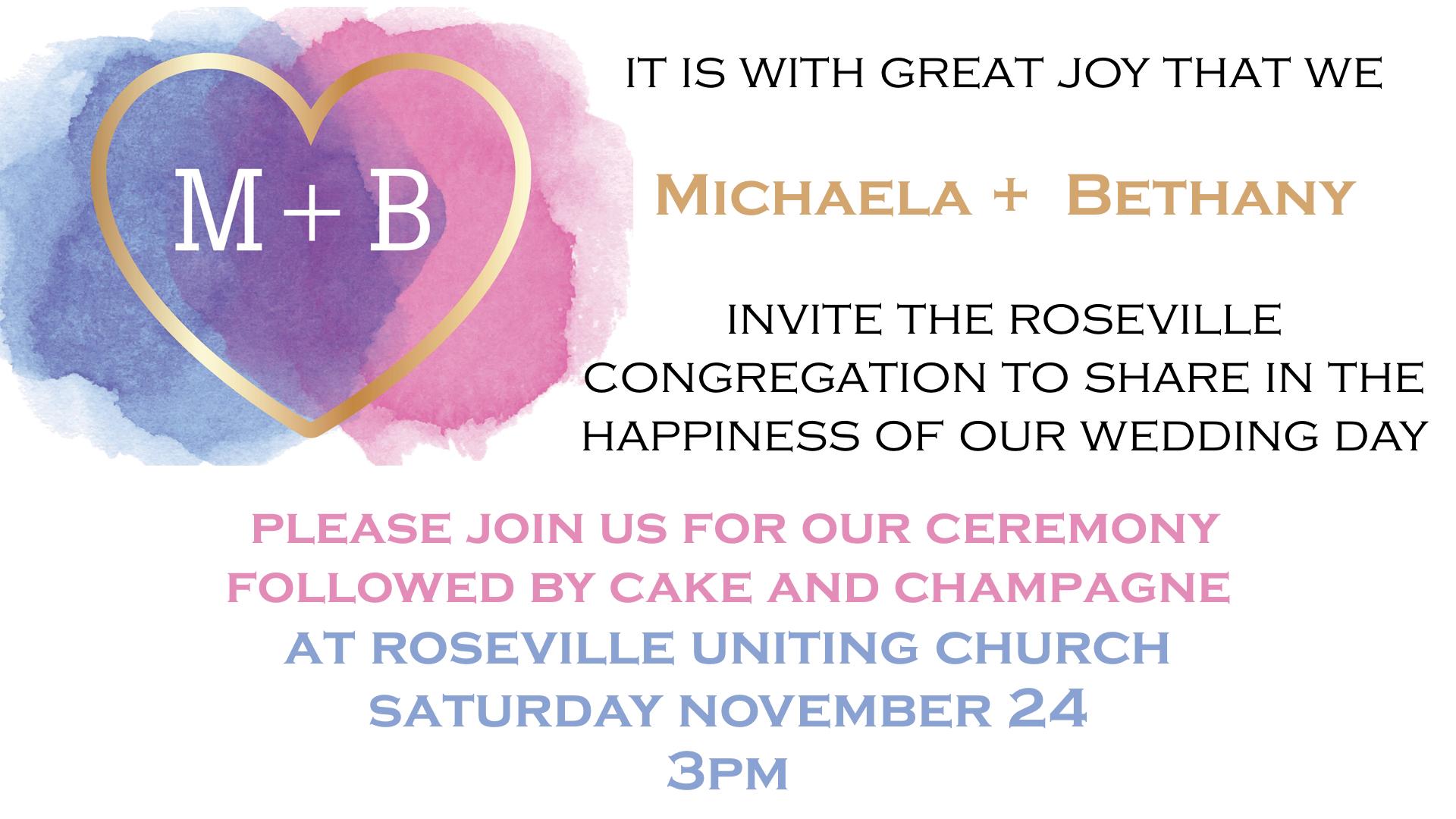 Michaela and Bethany's Wedding