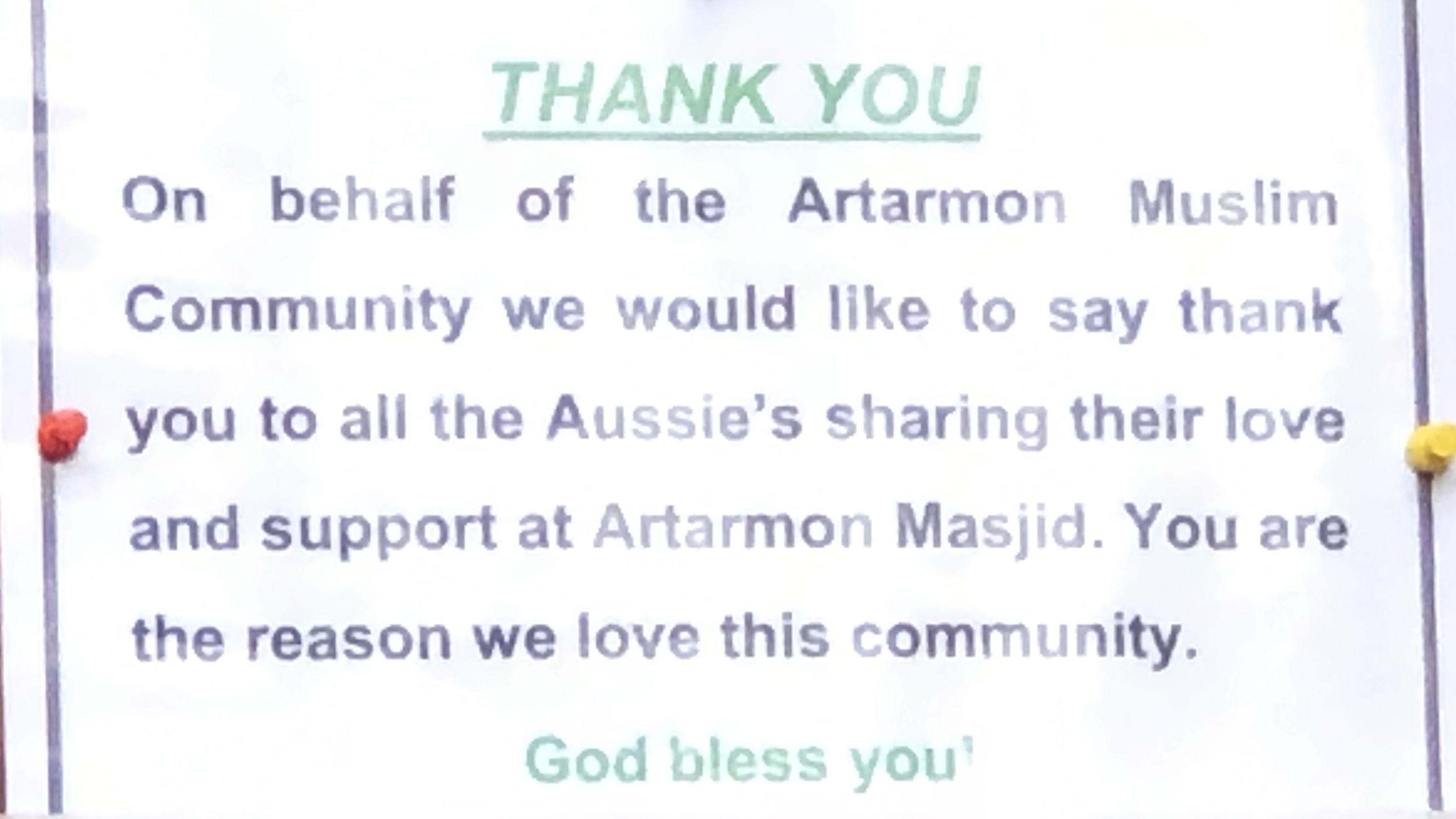 A message from our friends at Artarmon Masjid