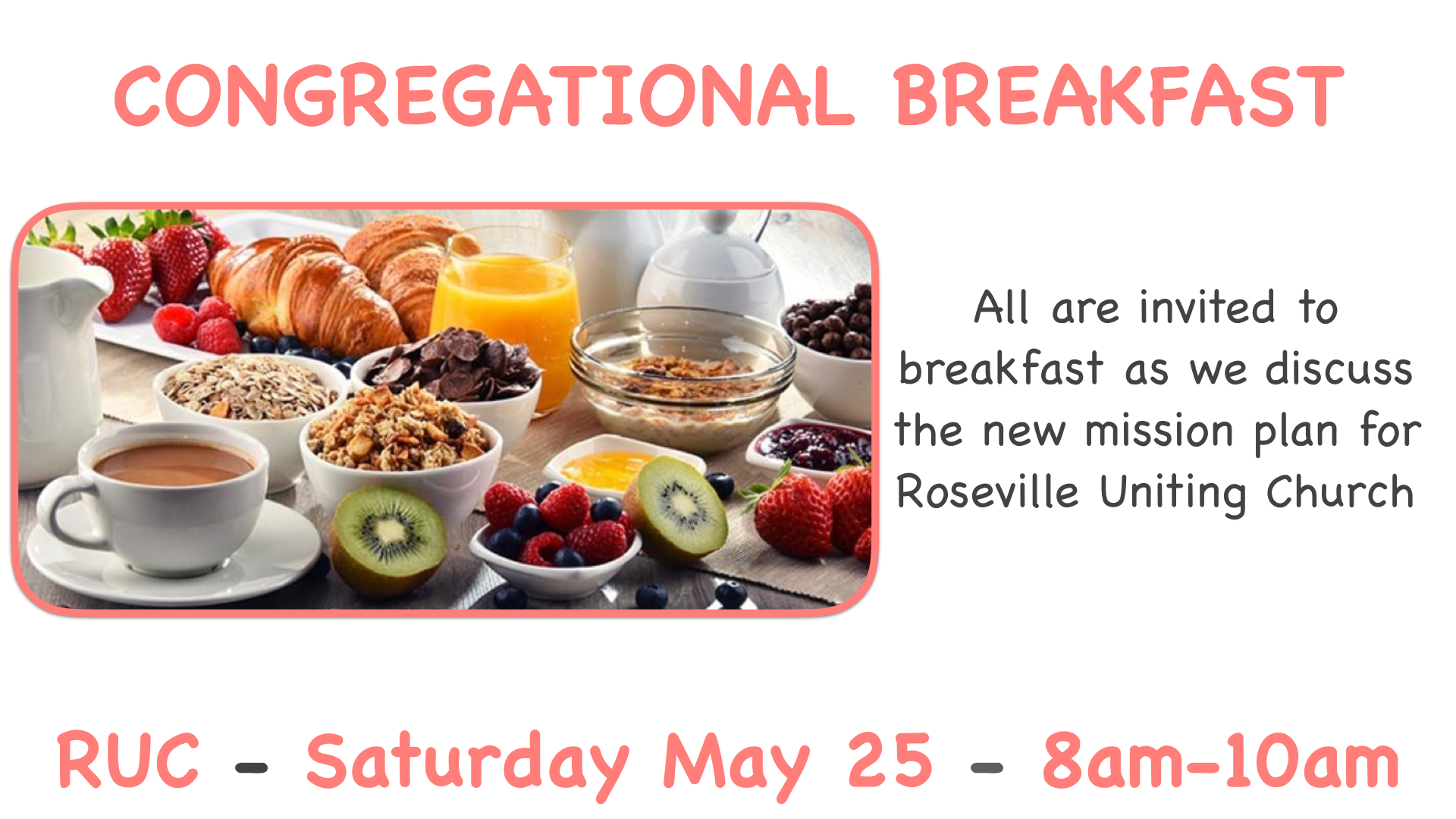 Congregational Breakfast