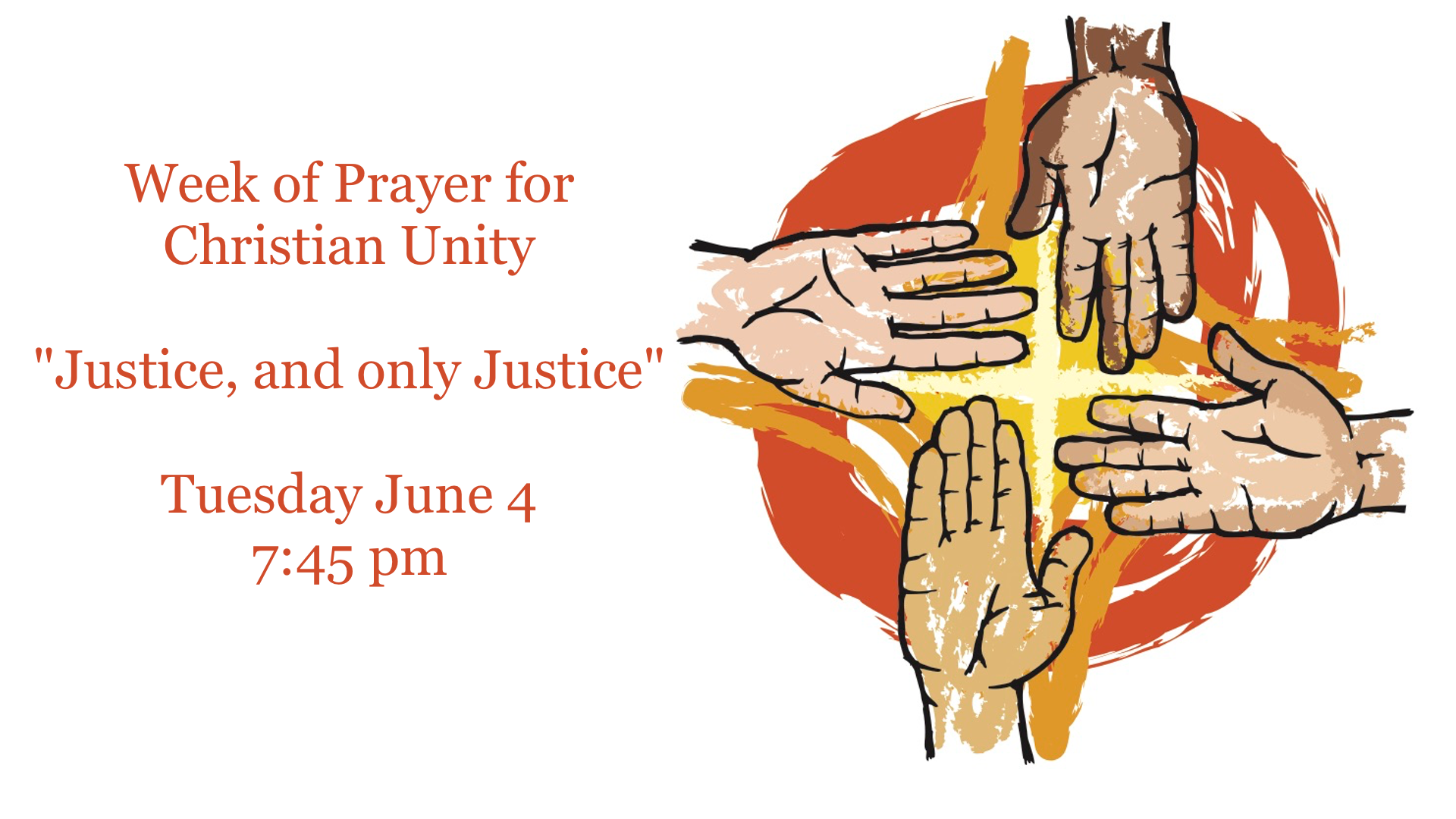 Service for the Week of Prayer for Christian Unity