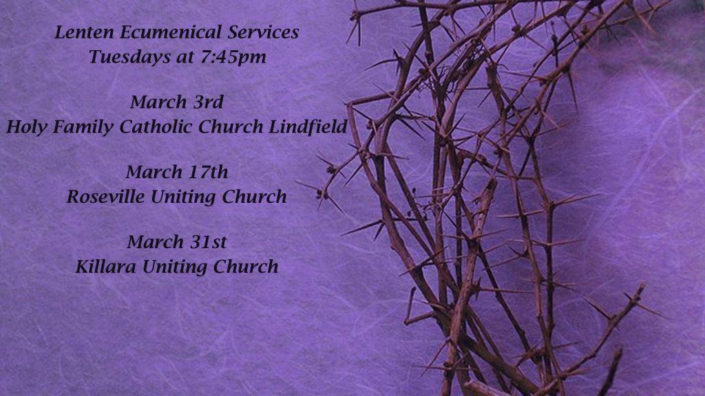 Lenten Ecumenical Services