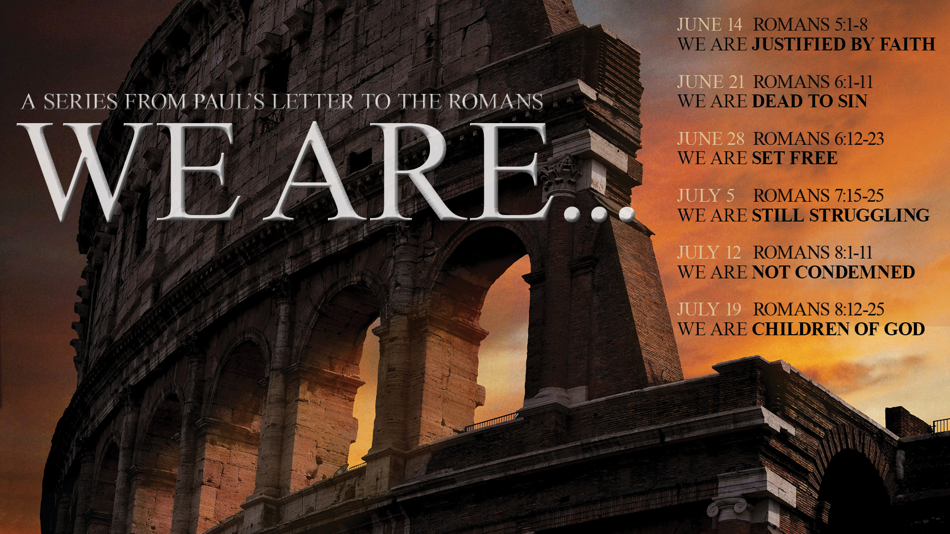 We are…