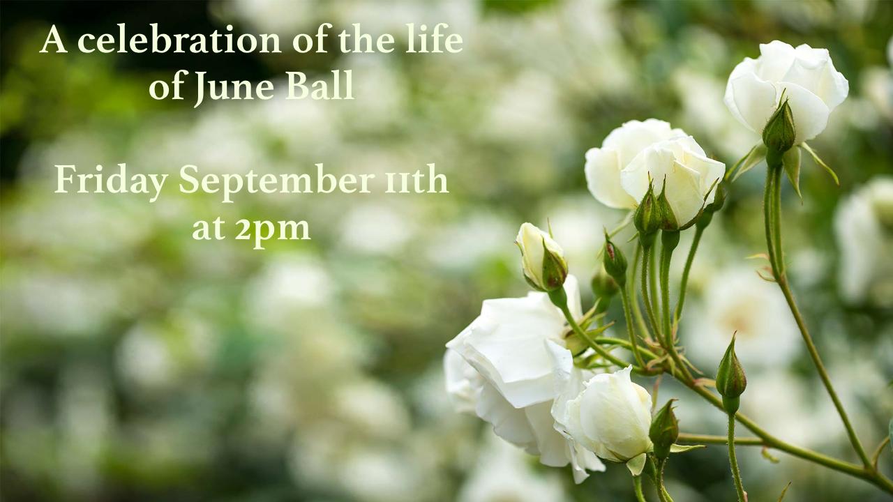 June Ball memorial service