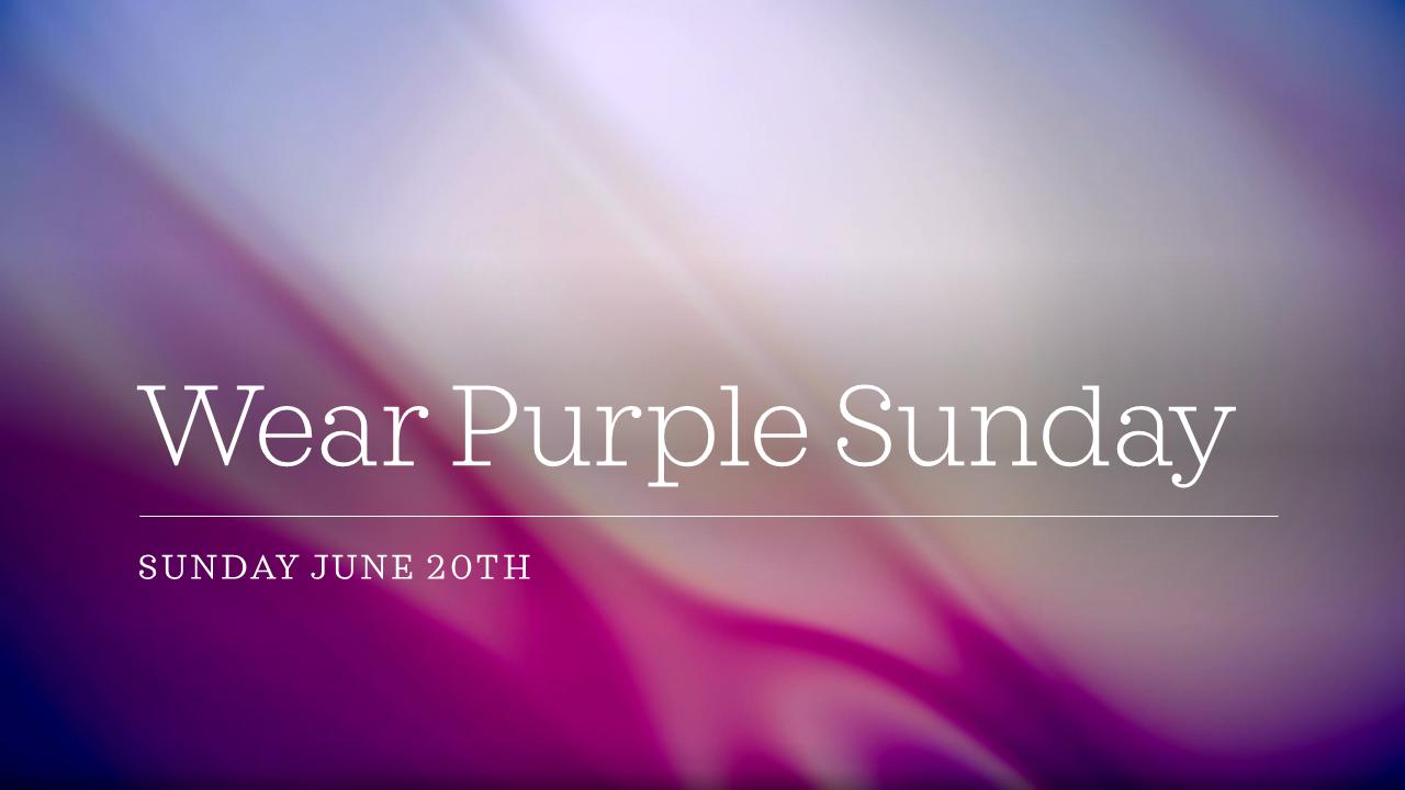 Wear Purple Sunday