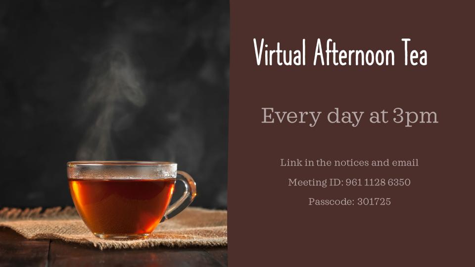 Virtual Afternoon Tea